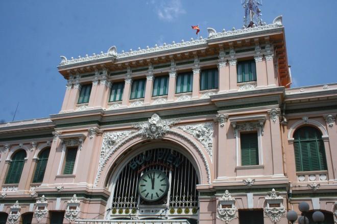 O prédio dos Correios Saigon Ho Chi Minh City Vietnã