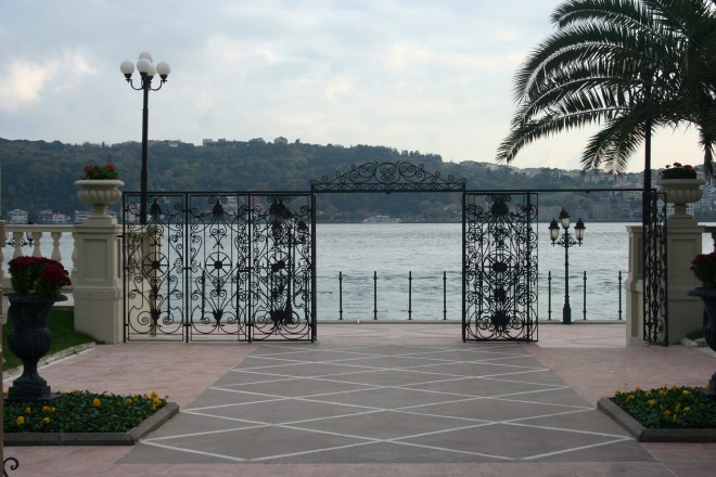 A Ásia e o Bósforo vistos do Çiragan Palace Kempinski em Istambul