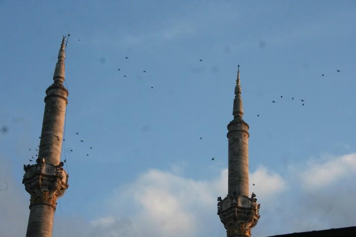 Os minaretes da Mesquita de Ortaköy