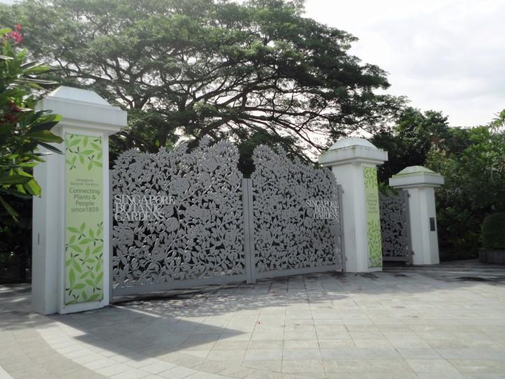 O portão de entrada original do Jardim Botânico