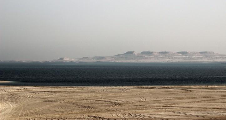 O deserto qatari e o Golfo Pérsico