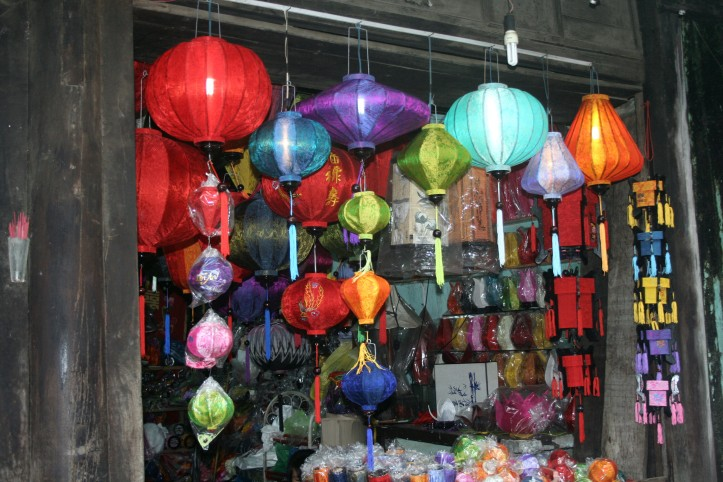 Loja de lanternas coloridas