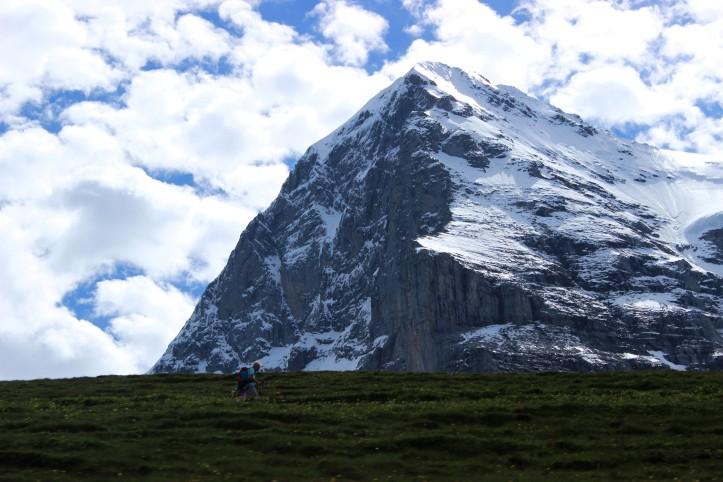 No caminho Jungfrau acima
