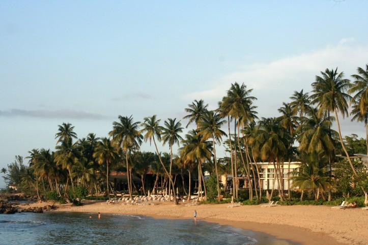 A praia de Dorado