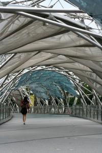 A ponte de pedestres The Helix