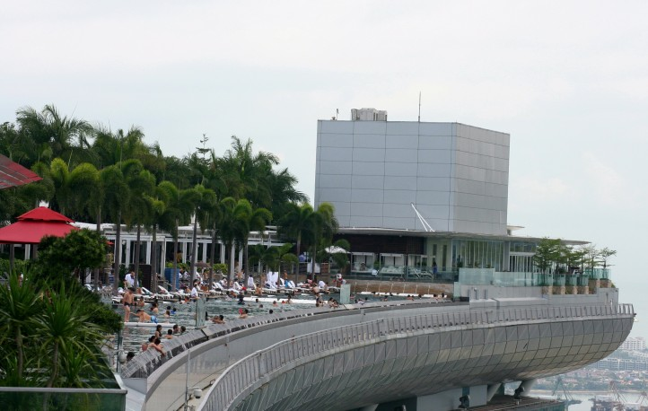 A piscina do Marina Bay