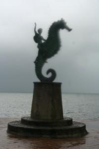 Cavalo-marinho em tempestade tropical
