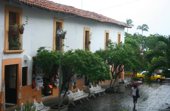 Chove chuva no Centro Histórico