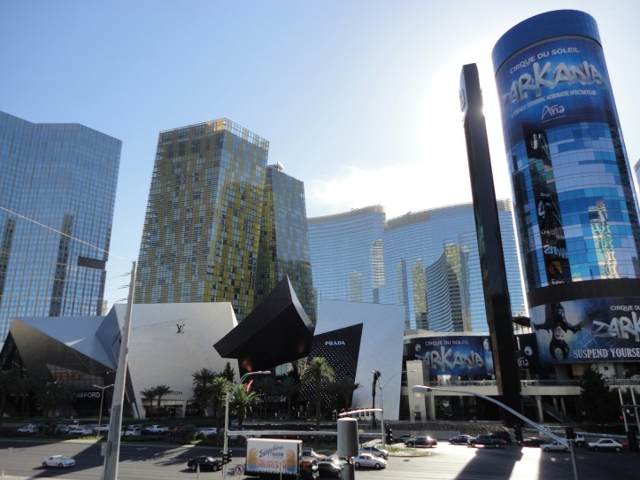 O City Center e o Aria Resort & Casino, na Strip