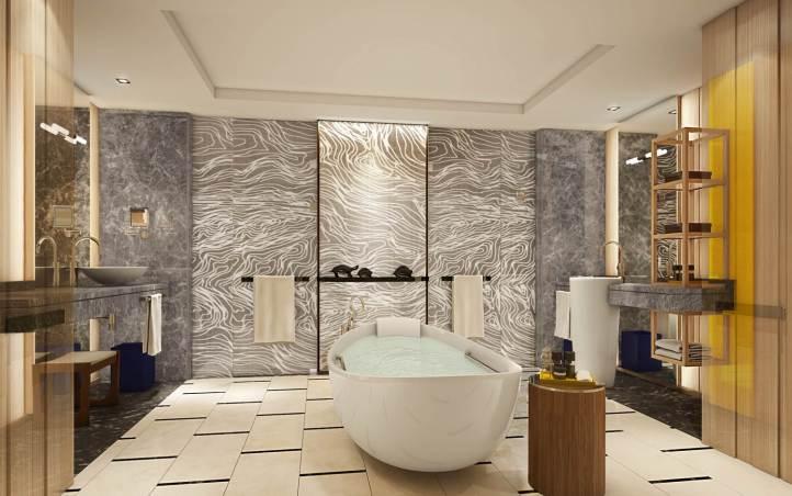 Banheiro de uma suíte / Foto de divulgação
