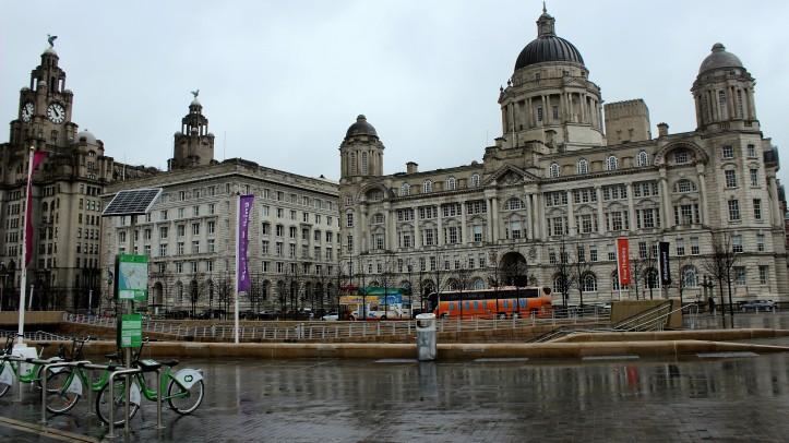 O principal conjunto arquitetônico do Porto de Liverpool