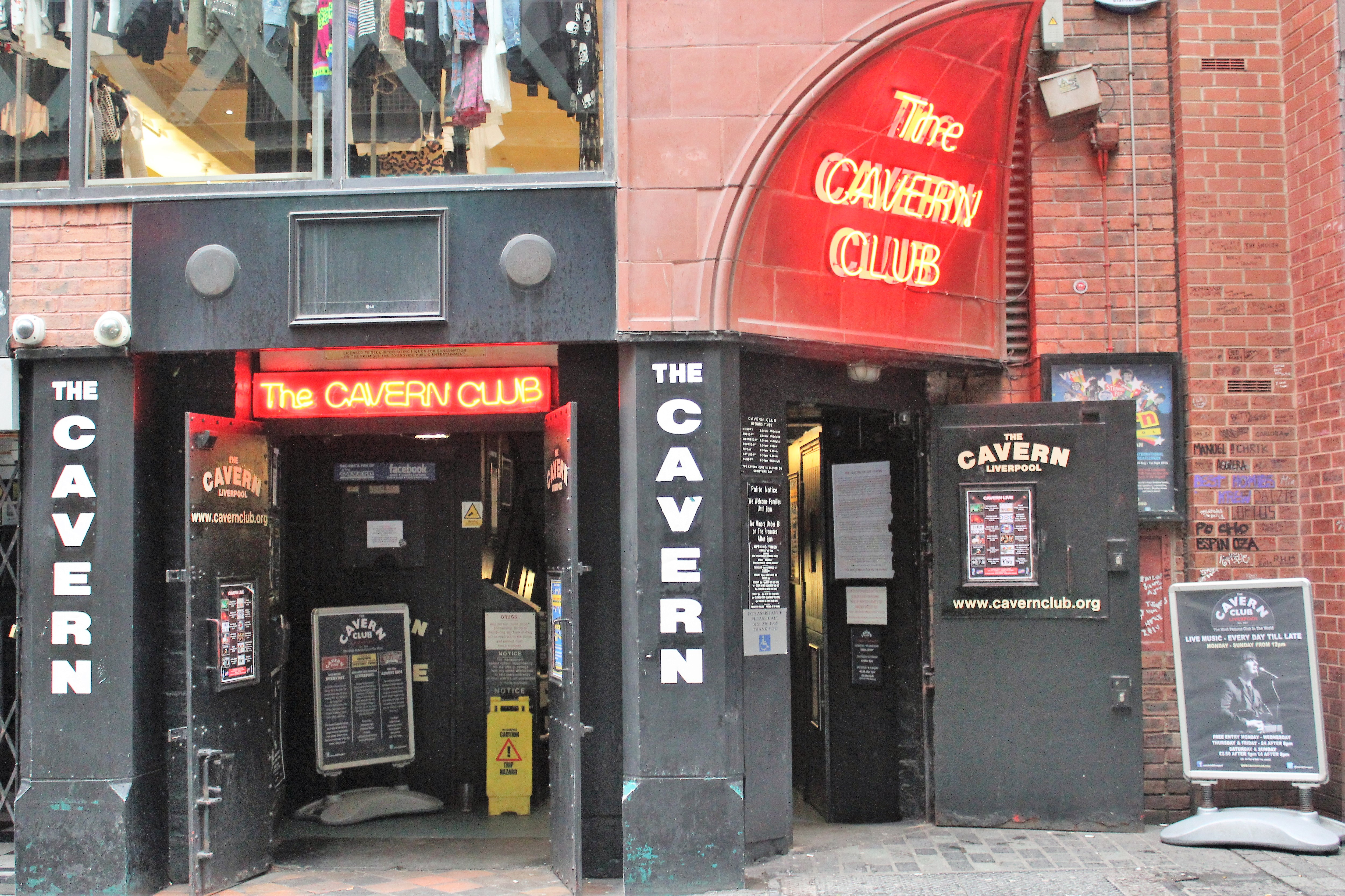 Entrada do Cavern Club em Liverpool